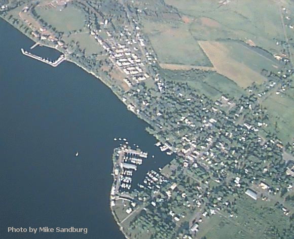 Sackets Harbor from the air