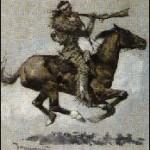 Indian riding horse