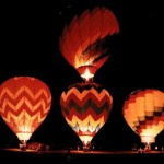 hot air balloon at night