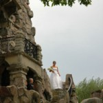 Bride at Boldt Castle