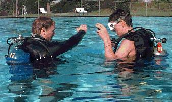 Scuba Dive Instruction Close