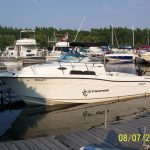 1000 Islands Fishing Charters boat side